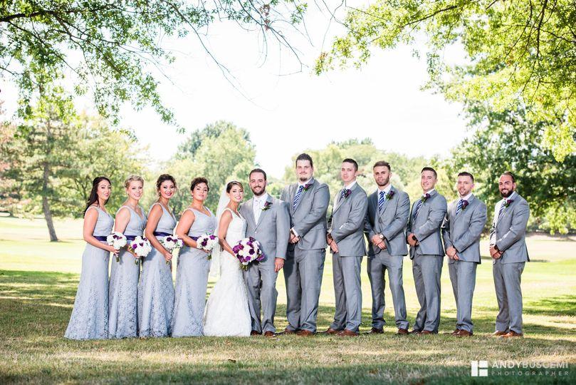 Couple's bridal party