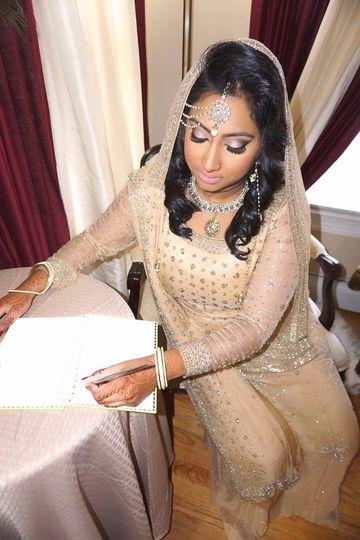 Elegant makeup artistry