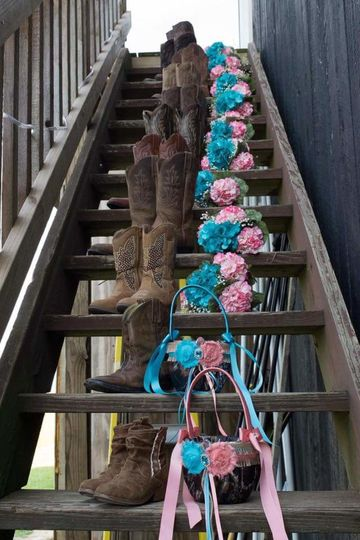 boots on stairs