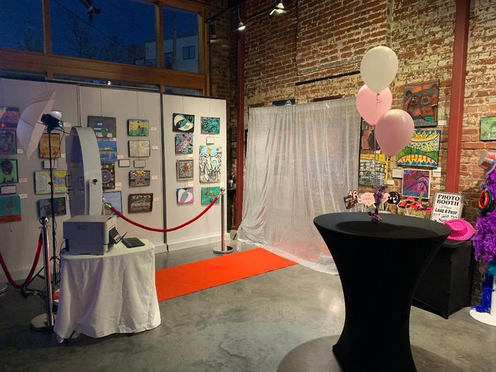 Photo booth and backdrop