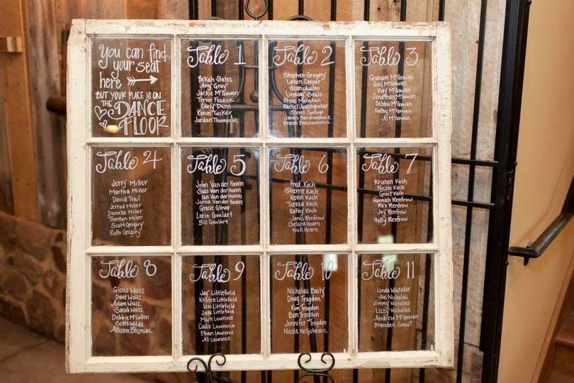 Wedding glass boards