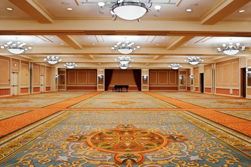 ballroom with piano