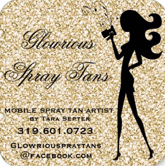 If you want to be simply Glamorous on your big day then get a Glowrious Spray Tan by Tara Septer
