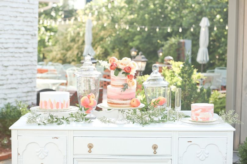Vintage Buffet Cake Table