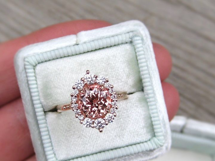 Tmx 1506449534857 Peach Sapphire. Denver wedding jewelry