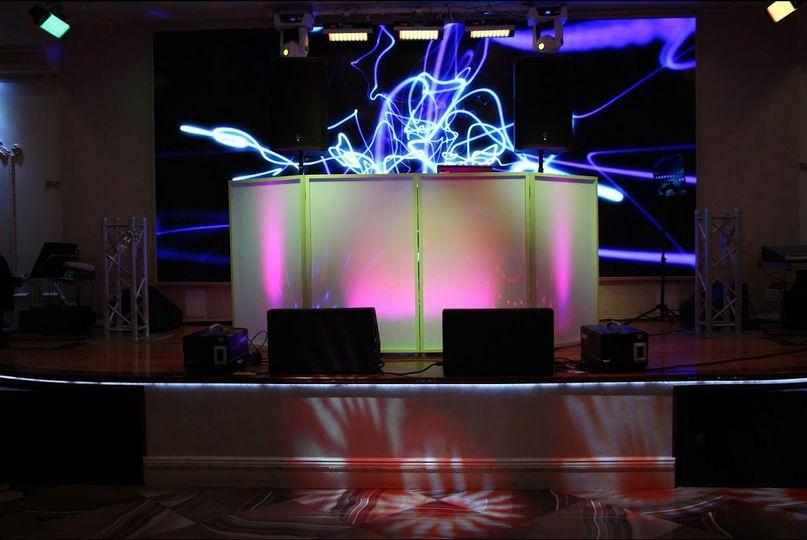 DJ booth ambiance