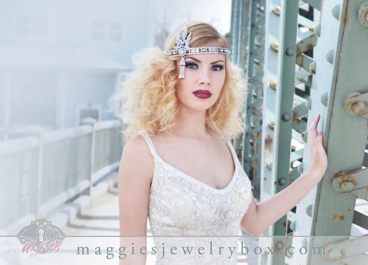 mjb maggies jewelry box 1920s bridal headpiece wed