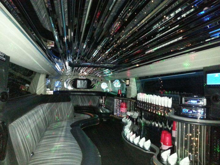 Interior of regular limo