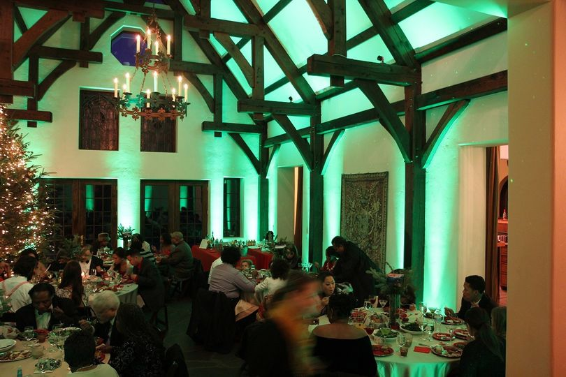 Superior Light and Sound provided decor lighting at The Castle Ladyhawke in Tuckasegee, NC