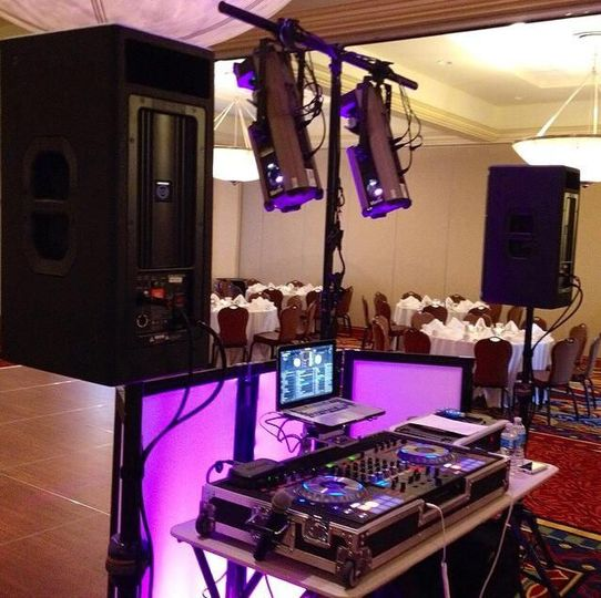 Reception and DJ station