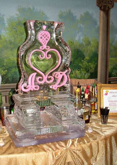 Martini Luge Ice Sculpture