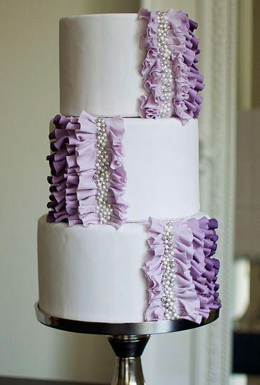 Modern wedding or engagement cake