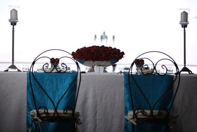 Tmx 1419124939648 Red And Turquoise Table Decor Bronx wedding planner