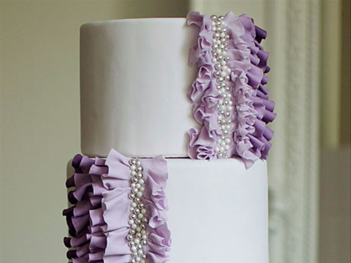 Tmx 1419125027211 Wedding Cake Photos Purple Wedding Cake Ruffles Pe New York, NY wedding planner