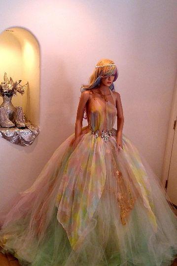 """""""LAUREL"""" Pastel Bridal Gown"""
