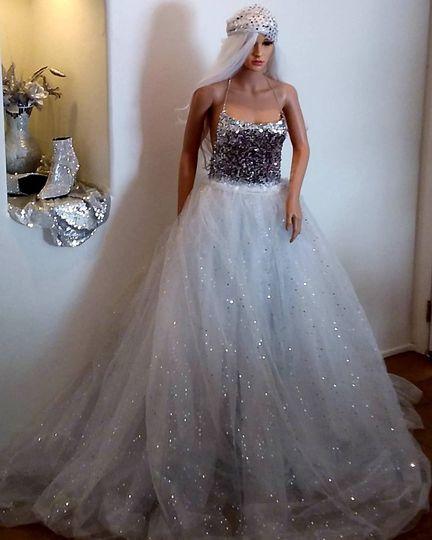"""""""ADAIR"""" Sparkle Wedding Gown"""
