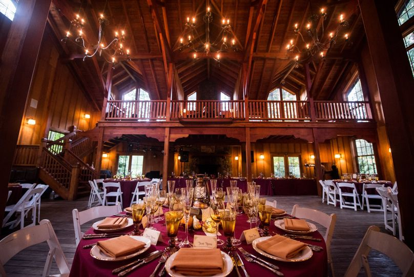 Round Tables for Dinner inside the Barn during Fall Rain! Photo: Brian MacStay