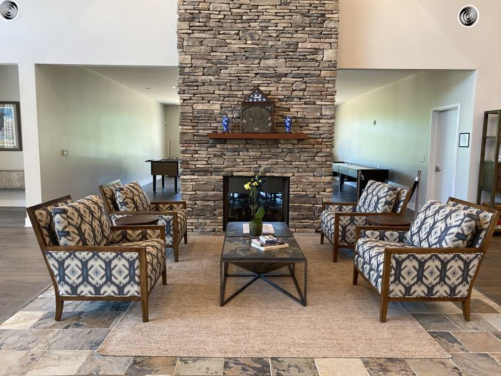 Fireplace in Club Room