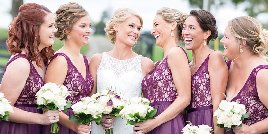 lace bridesmaid