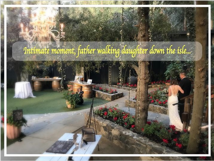 Father walking Daughter Down