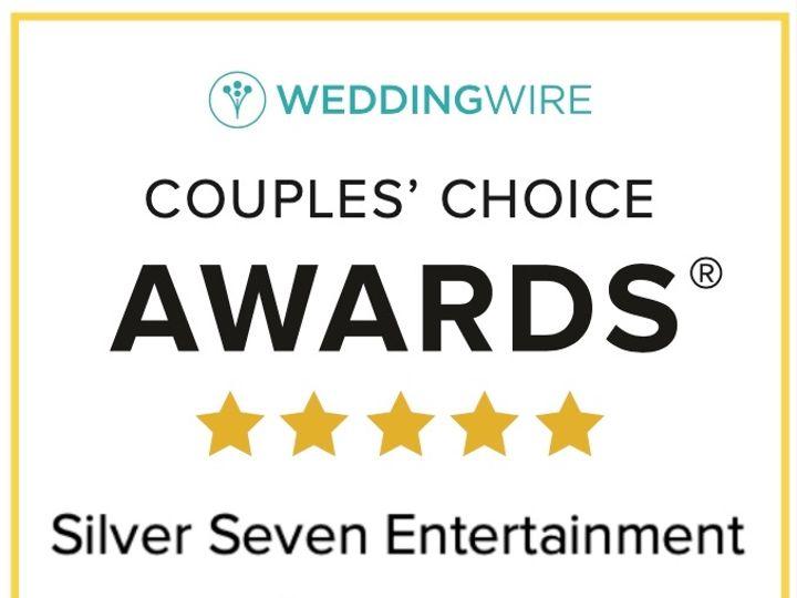 Tmx 16 Wedding Wire Couples Choice Award 2020 Silversevenentertainment Com 51 1031683 157975349176590 Ventura, CA wedding dj