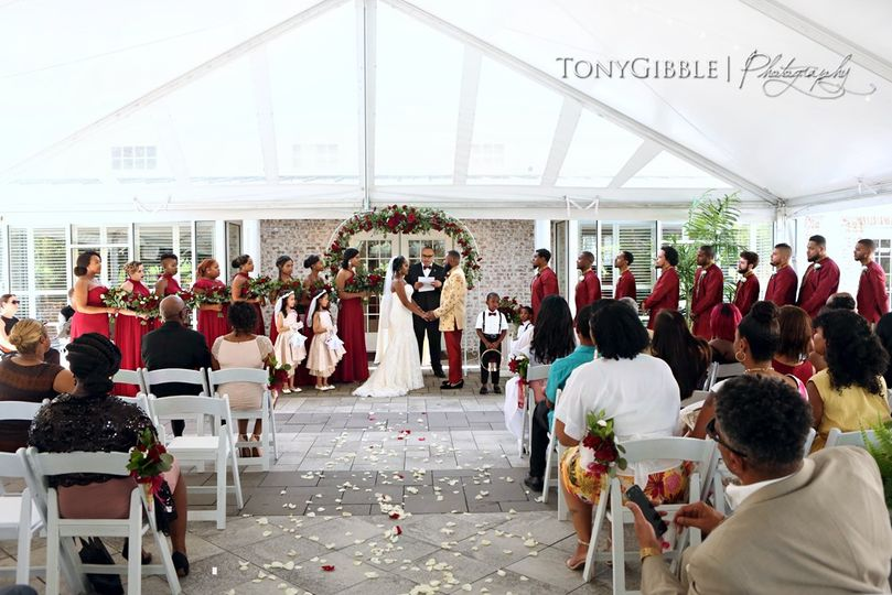 Tented Courtyard - Ceremony