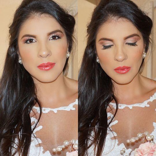 Peachy lips