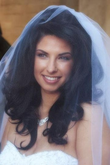 Close-up of Bride with a vail on at a the Weaver wedding 1-18-09.