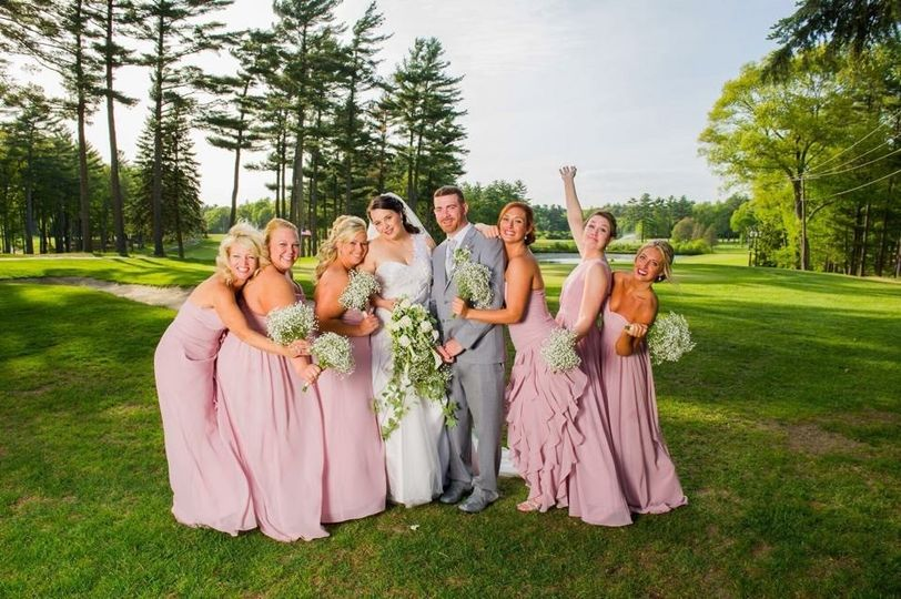 Fun wedding party at the Pembroke Country Club