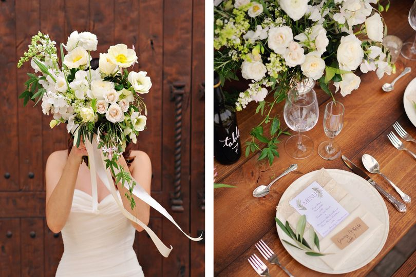 third bloom bouquet and tablesetting copy