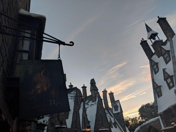 Hogwarts at sunset!