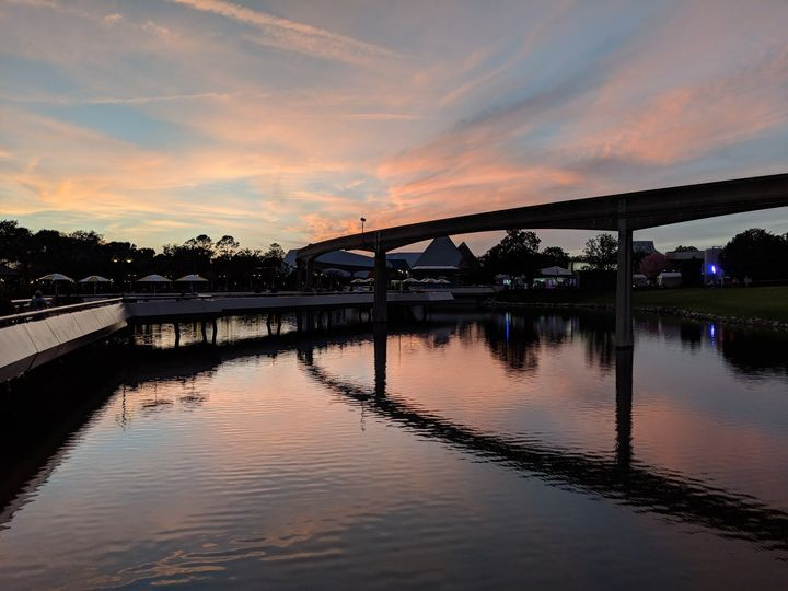 WDW Epcot at sunset!