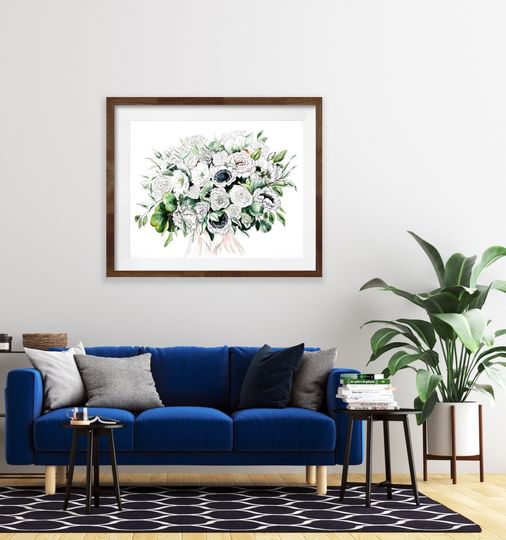 Bouquet over Sofa