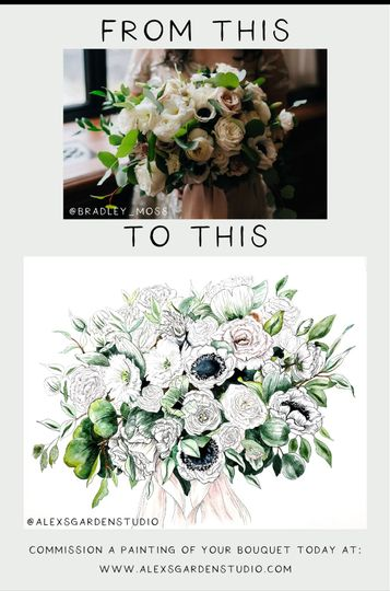 Example of Inky bouquet