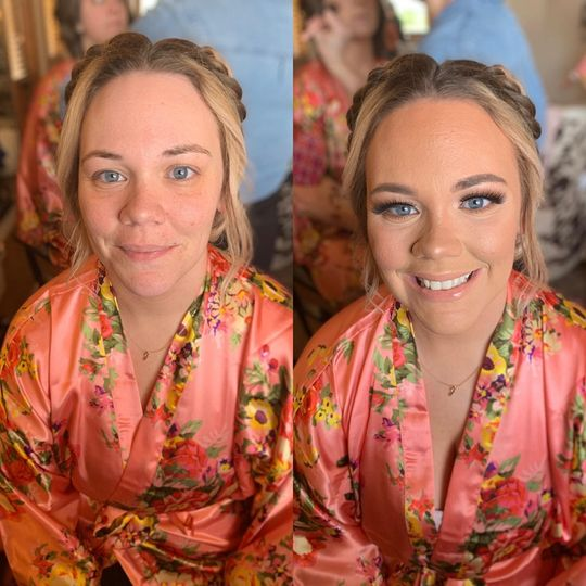 Before and After Bridesmaid