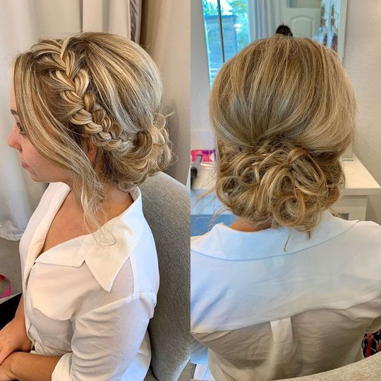 Bridal Updo with Braid