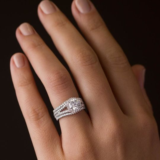 Big and round wedding ring