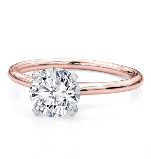 Rose Gold Solitaire Setting