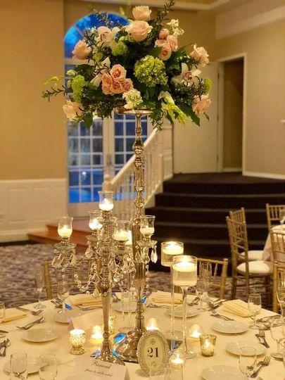 Bouquet style centerpiece