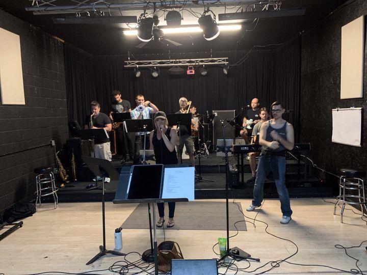Rehearsing in the Studio!