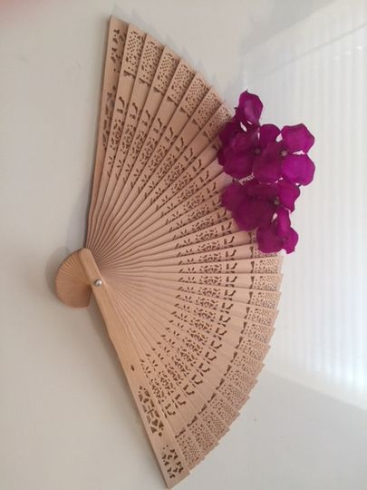 Wood fans for reception