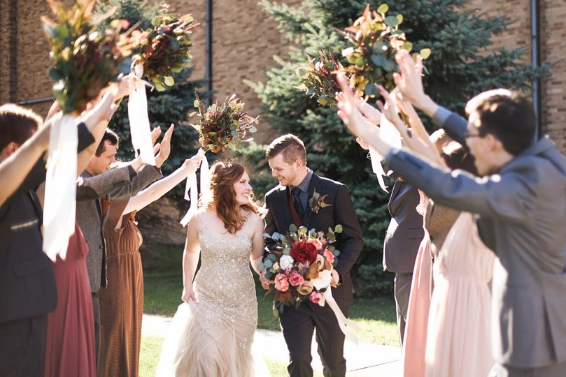 Delight for the happy couple