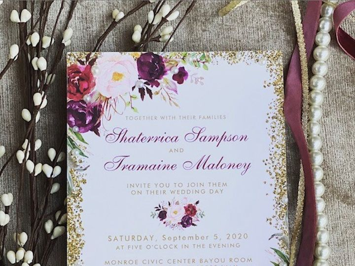 Tmx 2 51 1980783 159730220822841 Dallas, TX wedding invitation