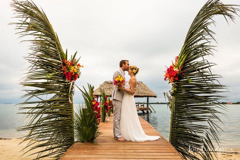 Pier wedding