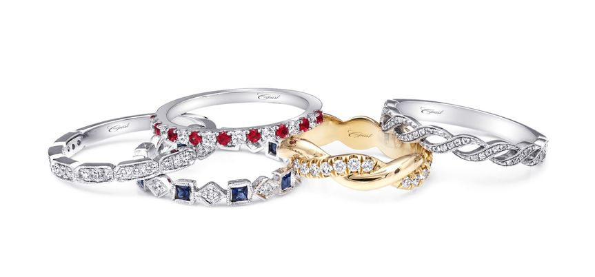 Twisted and gemstone bands