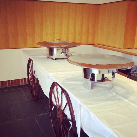 Live Appetizer Stations Being Set-up with Food Carts