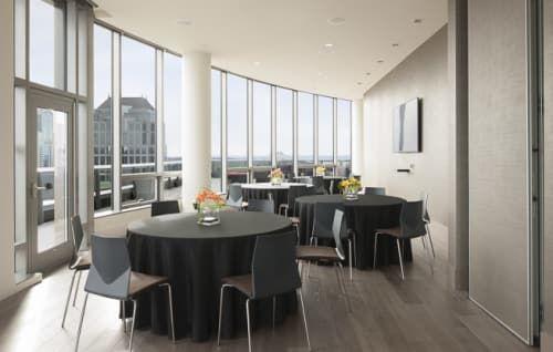 Black Linen Round Tables