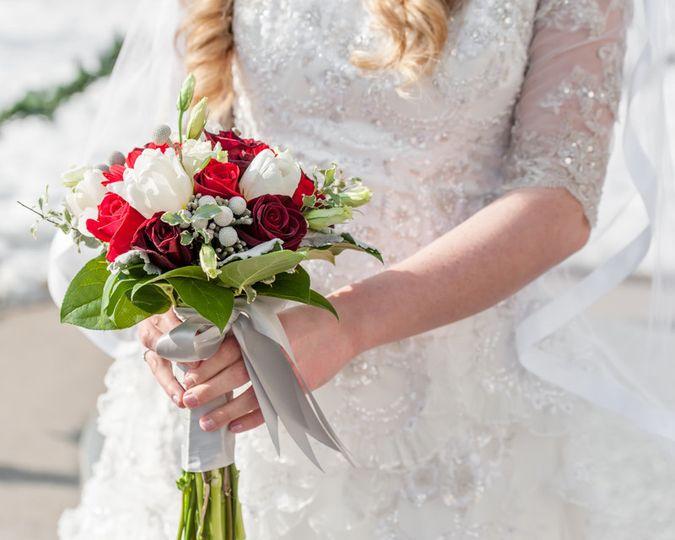 Salt Lake City Temple wedding in the winter.
