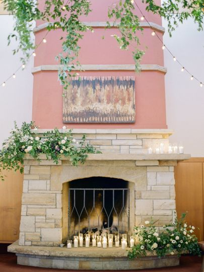 Fireplace at the venue