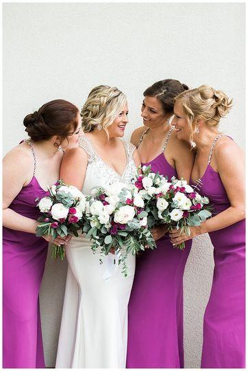 Bride and wedding party